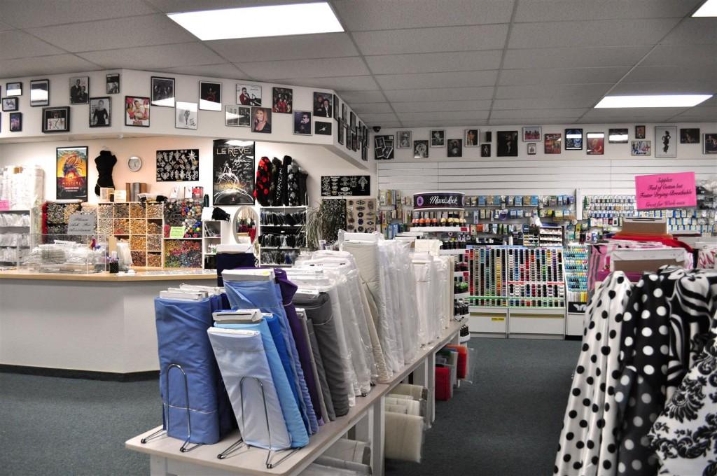 Inside of Heddy's Fabrics
