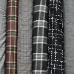 Neutral wool fabrics